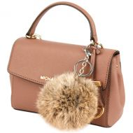FLEXABLE REAL RABBIT FUR POM POM KEY CHAIN POM08