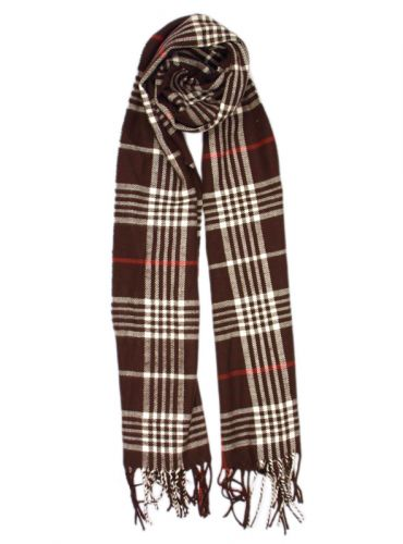 PLAID SOFT CASHMERE FEEL SCARF S011