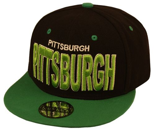 SNAPBACK CAPS WITH CITY PITTSBURGH EMB SB1816