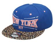 LEOPARD PRINT VISOR SANPBACK CAPS WITH NEW YORK SB1845
