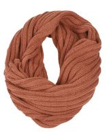 STRIPE CABLE KNIT INFINITY SCARF SC1974