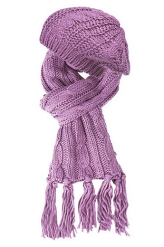 KNIT BERET AND SCARF SETS SET2049ASST