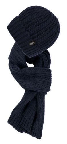 CHUNKY CABLE KNIT BEANIE WITH MATCHING SCARF SET2353