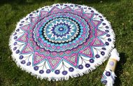 GEOMETRIC MANDALA SUMMER ROUND BEACH TOWEL TW03