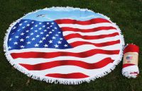 US FLAG SUMMER ROUND BEACH TOWEL TW05