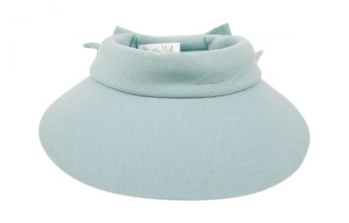 COTTON SOLID COLOR VISOR WITH BACK BOW V2722