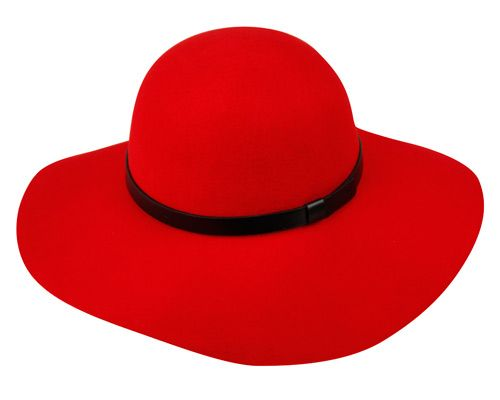 LADIES WOOL FELT FLOPPY HATS WITH LEATHER BAND WFL2166