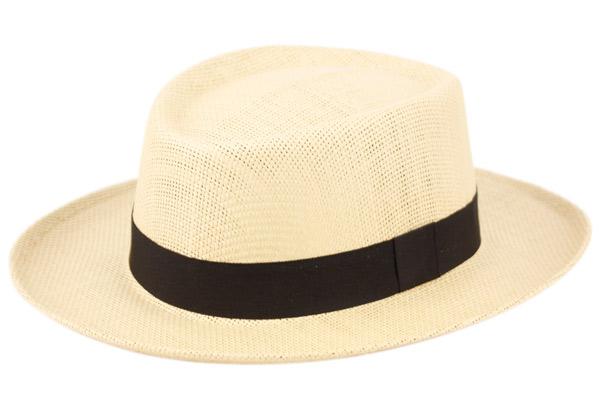 cdf79f8f GAMBLER STYLE PAPER STRAW HATS W/BLACK BAND F2271 - Epoch Fashion ...