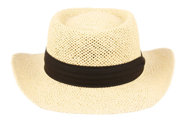 6043a02c GAMBLER STRAW HATS WITH GROSGRAIN BAND F2255. Click to enlarge. Click to  enlarge