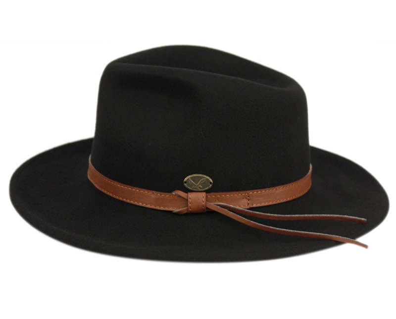 55f65b2ae91f94 WOOL FELT OUTBACK FEDORA HATS WITH FAUX LEATHER BAND HE56. Click to  enlarge. Click to enlarge. Click to enlarge. Click to enlarge